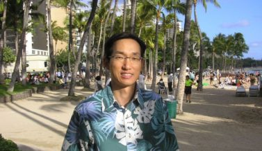 Pastor Hong on the Waikiki beach
